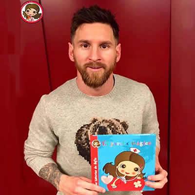 Messi con la Asociación Las Historias de Sofia